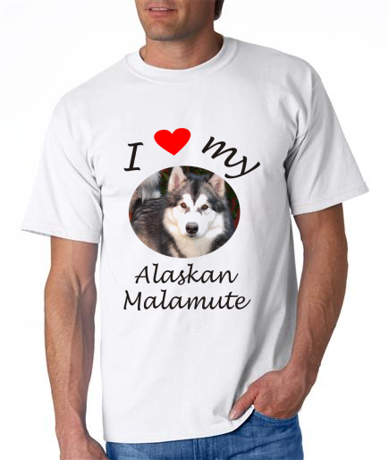Dogs - Alaskan Malamute Picture on a Mens Shirt