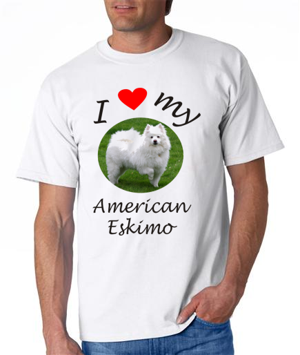 Dogs - American Eskimo Picture on a Mens Shirt