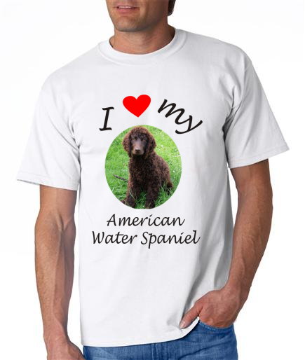 Dogs - American Water Spaniel Picture on a Mens Shirt