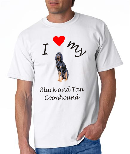Dogs - Black and Tan Coonhound Picture on a Mens Shirt