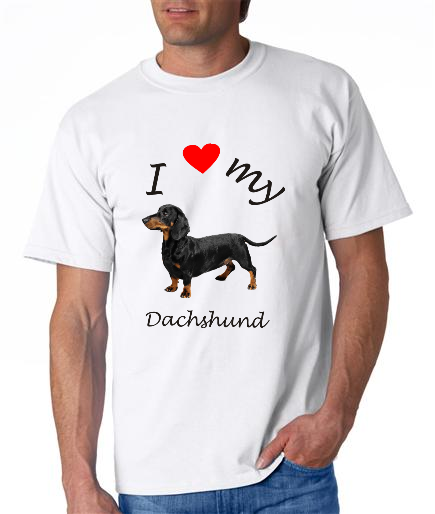 Dogs - Dachshund Picture on a Mens Shirt