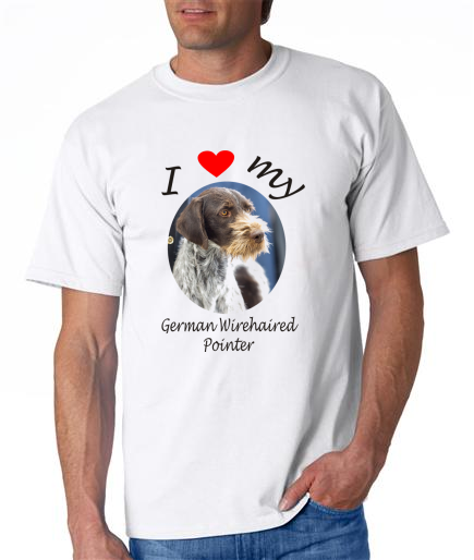 Dogs - German Wirehaired Pointer Picture on a Mens Shirt