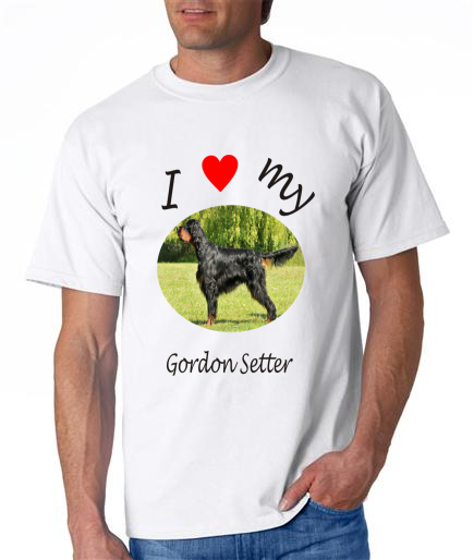 Dogs - Gordon Setter Picture on a Mens Shirt