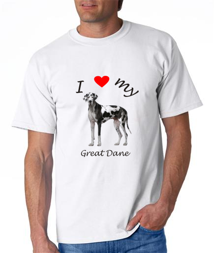 Dogs - Great Dane Picture on a Mens Shirt