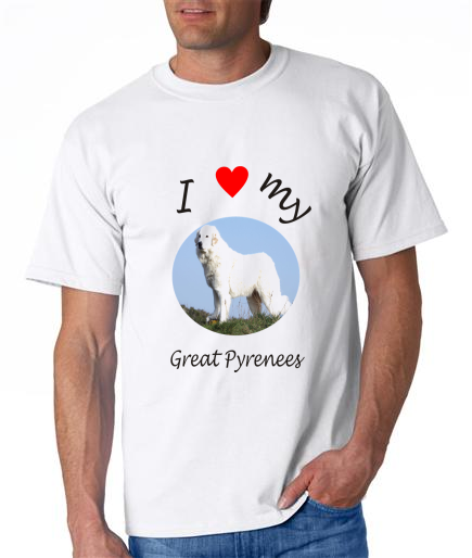 Dogs - Great Pyrenees Picture on a Mens Shirt