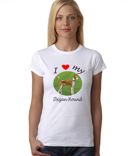 Dogs - I Heart My Ibizan Hound on Womans Shirt