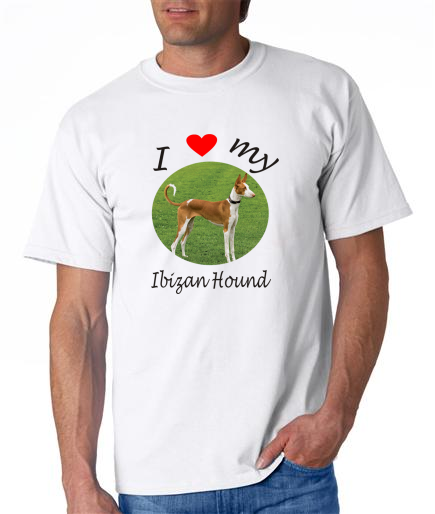 Dogs - Ibizan Hound Picture on a Mens Shirt