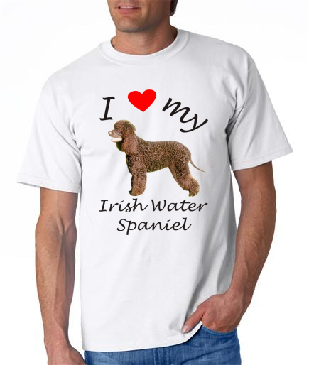Dogs - Irish Water Spaniel Picture on a Mens Shirt