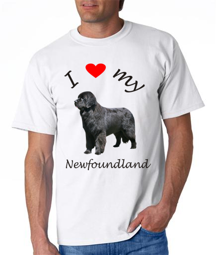 Dogs - Newfoundland Picture on a Mens Shirt