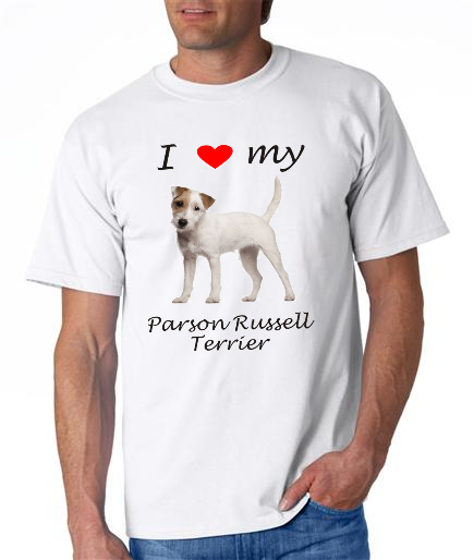 Dogs - Parson Russell Terrier Picture on a Mens Shirt