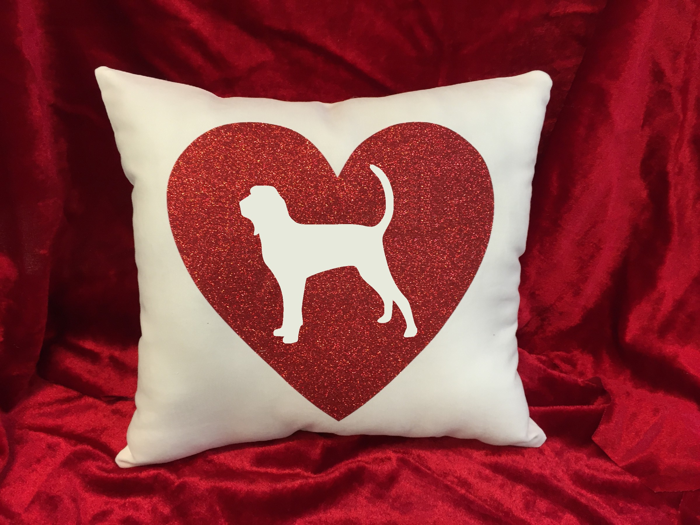 Dogs - Throw Pillow - Black and Tan Coonhound