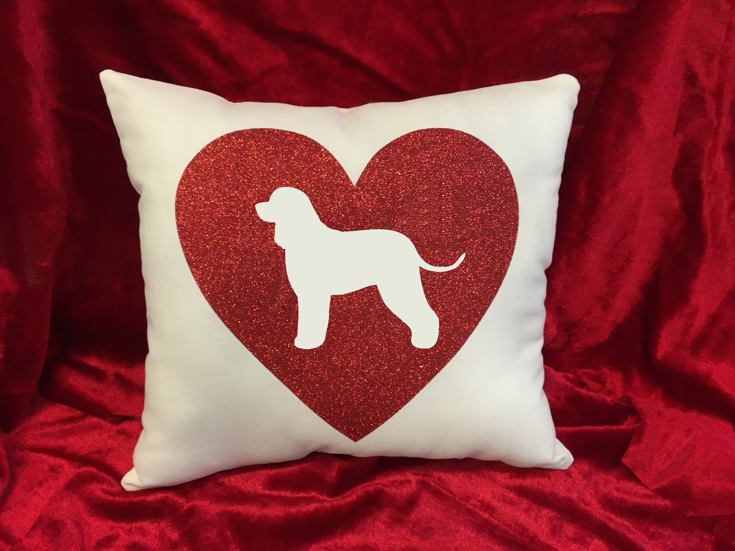Dogs - Throw Pillow - Irish Water Spaniel