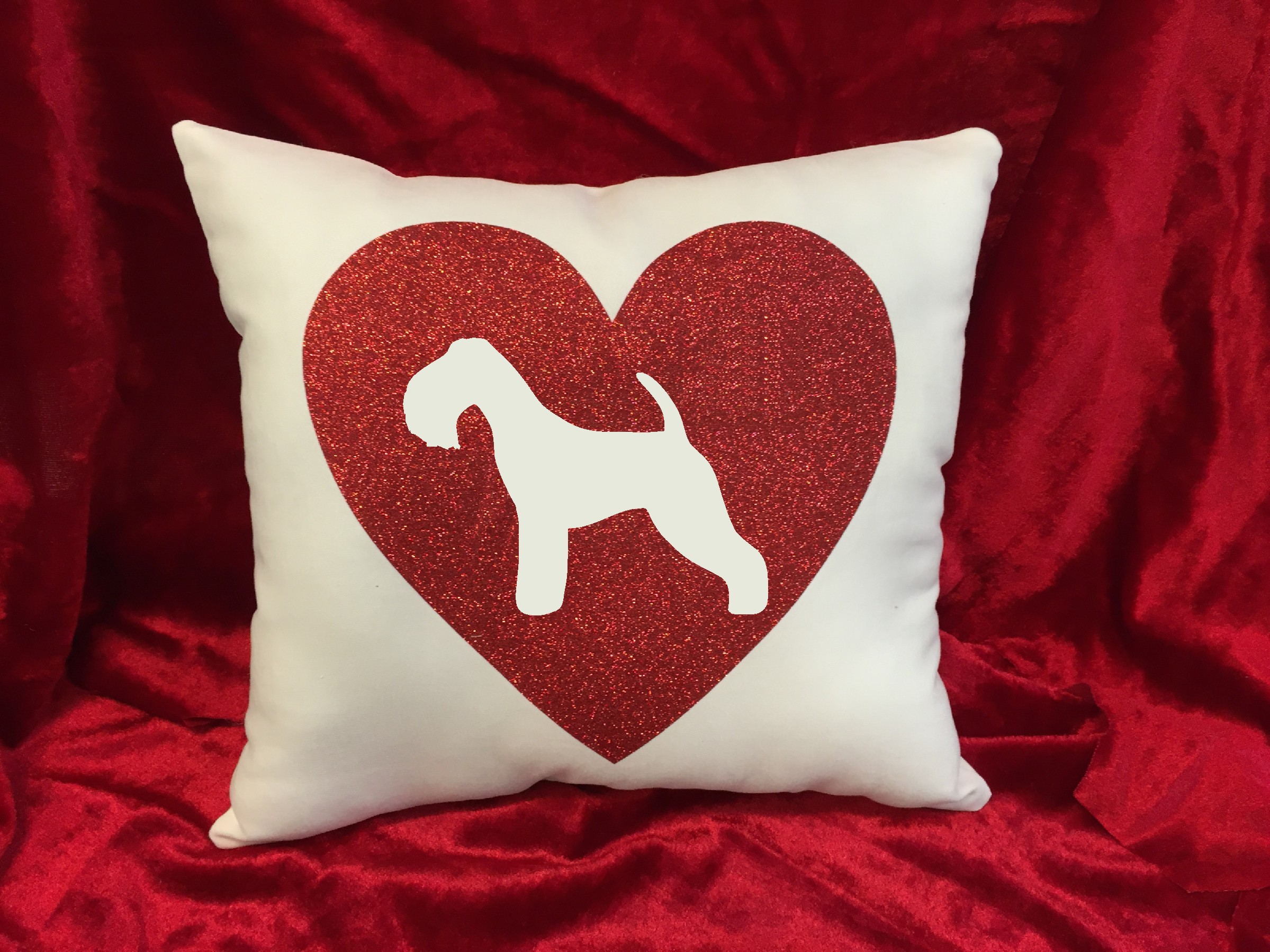 Dogs - Throw Pillow - Lakeland Terrier