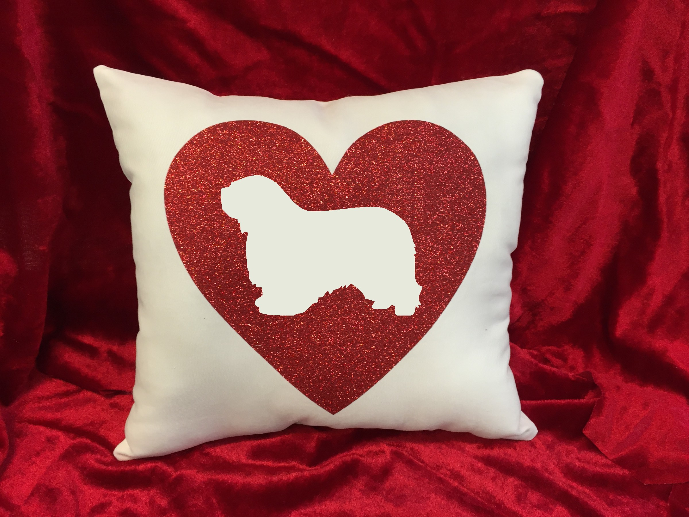 Dogs - Throw Pillow - Polish Lowland Sheepdog