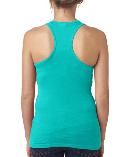 Interstitial Cystitis IC Hope Ladies Tank Top Back Teal