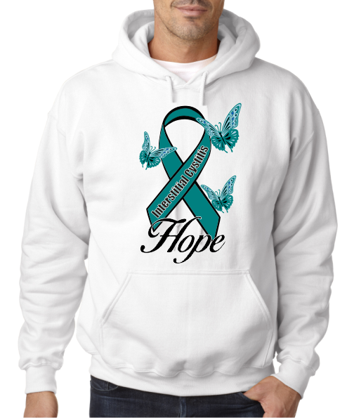 Interstitial Cystitis IC Hope on Hooded Sweatshirt