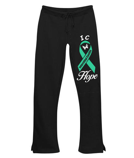 Interstitial Cystitis IC Hope on Ladies Sweatpants