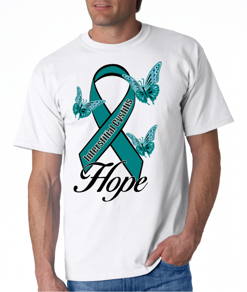 Interstitial Cystitis IC Hope on Mens SS Shirt