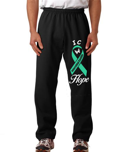 Interstitial Cystitis IC Hope on Mens Sweatpants