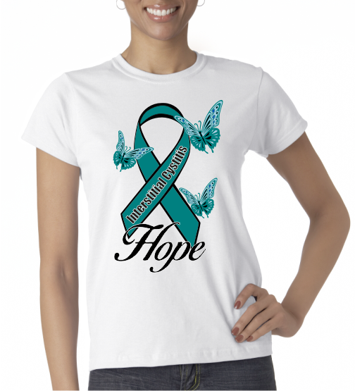 Interstitial Cystitis IC Hope on Womens SS Shirt
