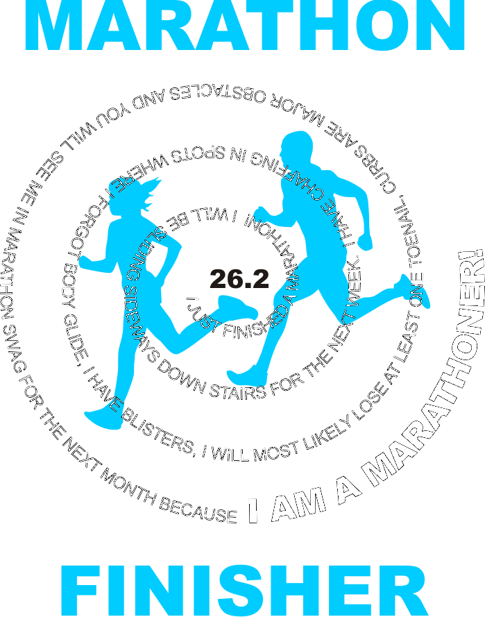 Marathon Finisher Shirt Graphic