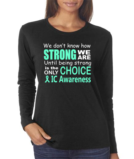 Rebecca - IC Awareness Ladies Black Long Sleeve Shirt