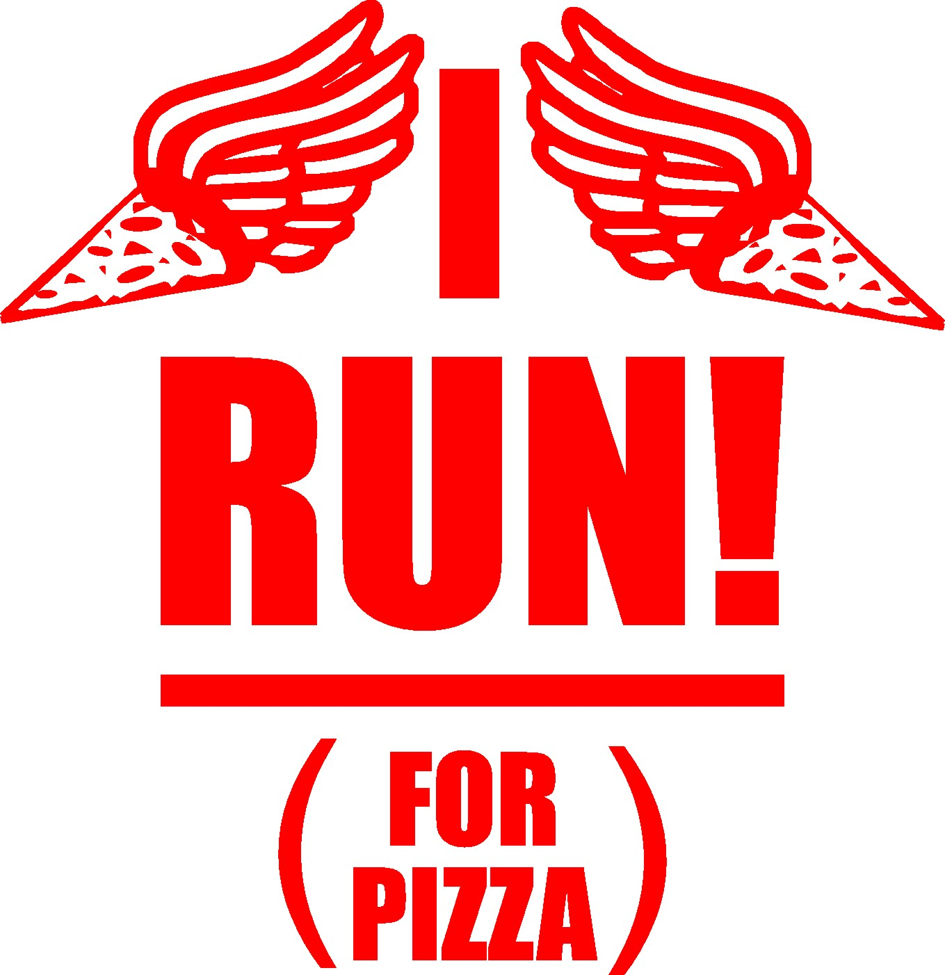 Running - I Run For Pizza - Shirts